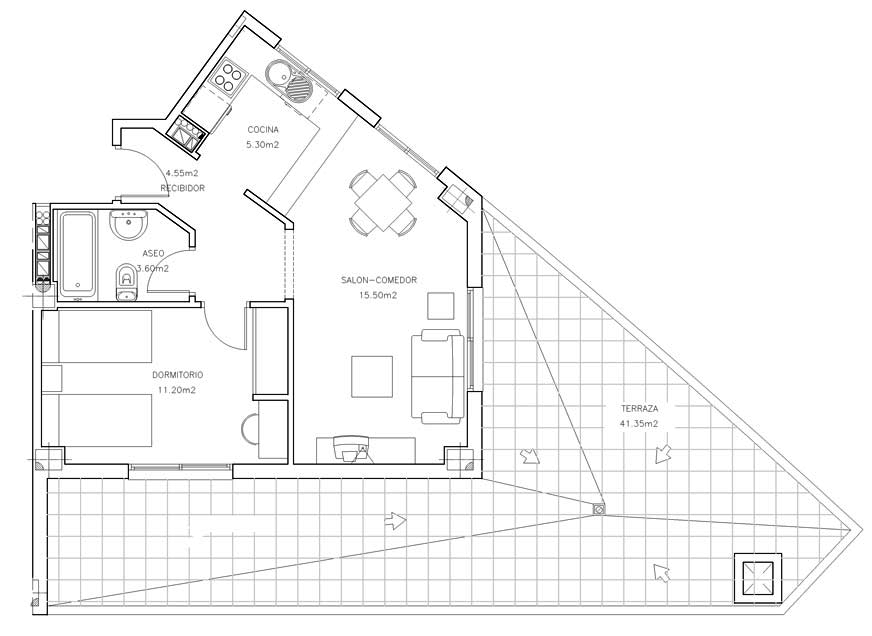 Plano modelo Terraza